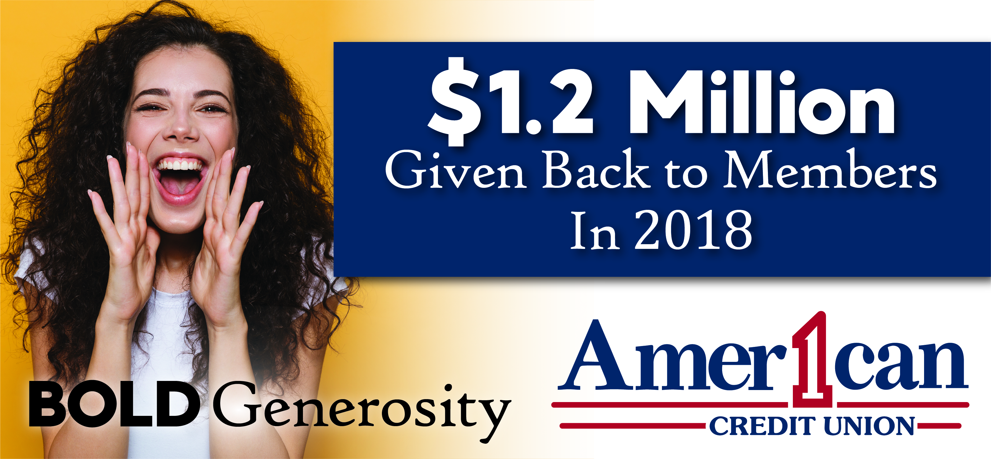 American 1 gives back $1.2 million dollars to members in 2018!