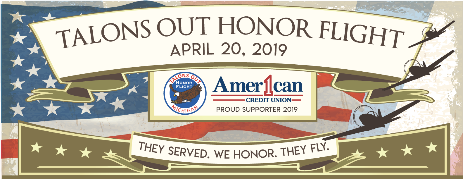 American 1 Credit Union is a proud sponsor of the 2019 Talons Out Honor Flight's Welcome Back Party
